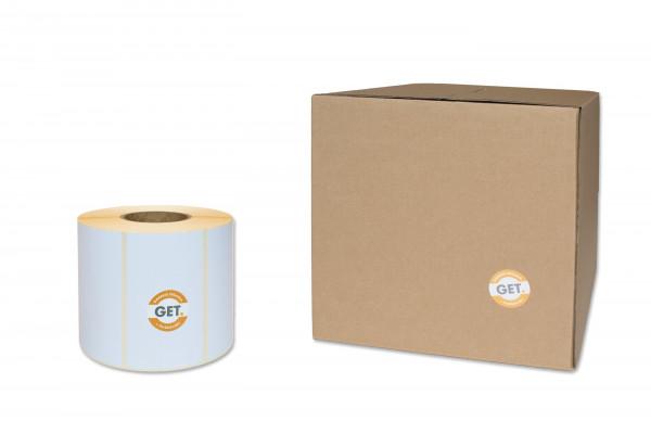Etiketten in 100 x 50 mm Papier-Etiketten seidenmatt, selbstklebend von der Rolle