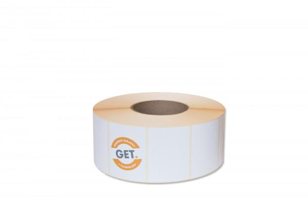 Etiketten in 52 x 37 mm Papier-Etiketten seidenmatt, selbstklebend von der Rolle