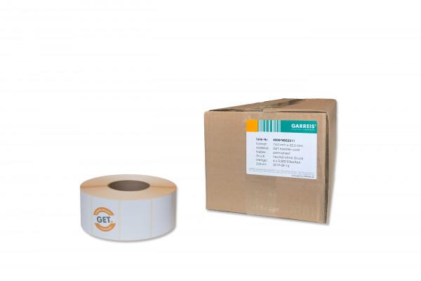 Papier-Etiketten in 74,0 mm x 52,0 mm selbstklebend von der Rolle